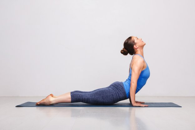 upward facing dog pose