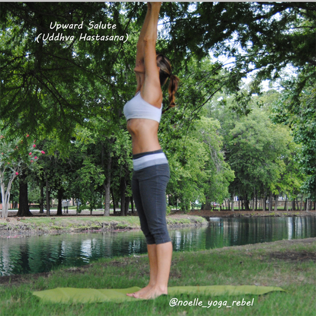 Upward Salute - A yoga pose for back pain