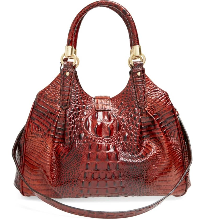 Elisa Crocodile Embossed Leather Bag