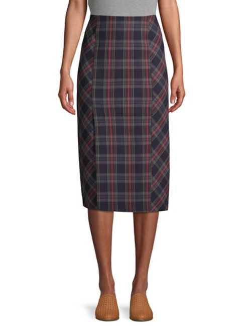 Free People Plaid Midi