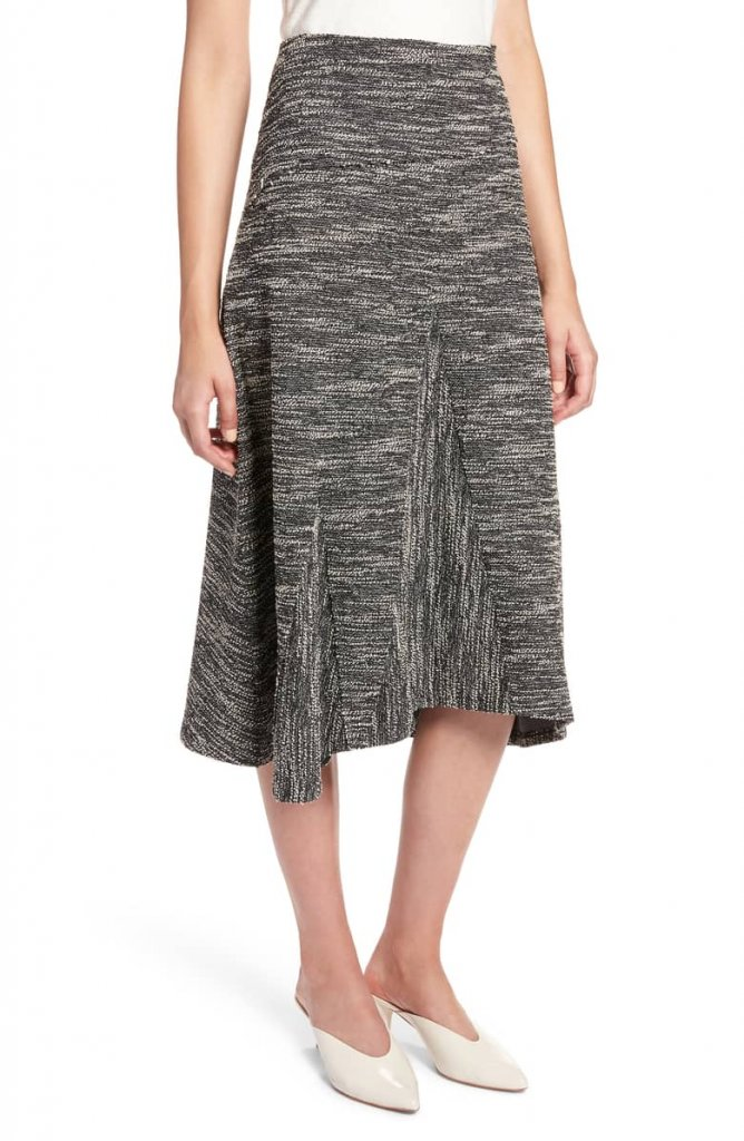 Halogen Tweed Aline Midi Skirt