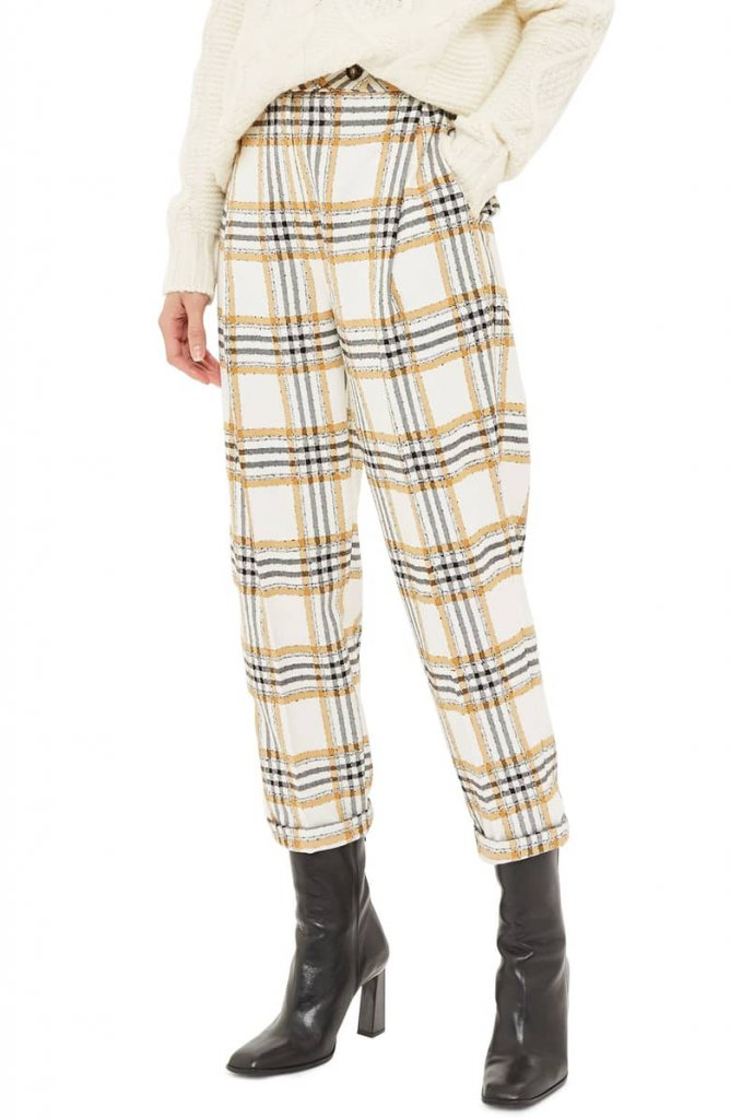Top Shop Plaid Pant
