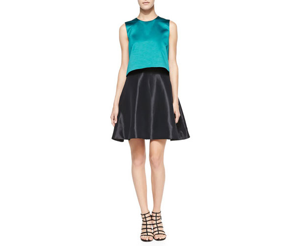 Erin-Featherston-Sleeveless-Contrast-Bodice-Cocktail-Dress