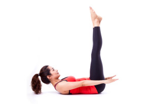 Pilates includes many core exercises like these Pilates 100s.