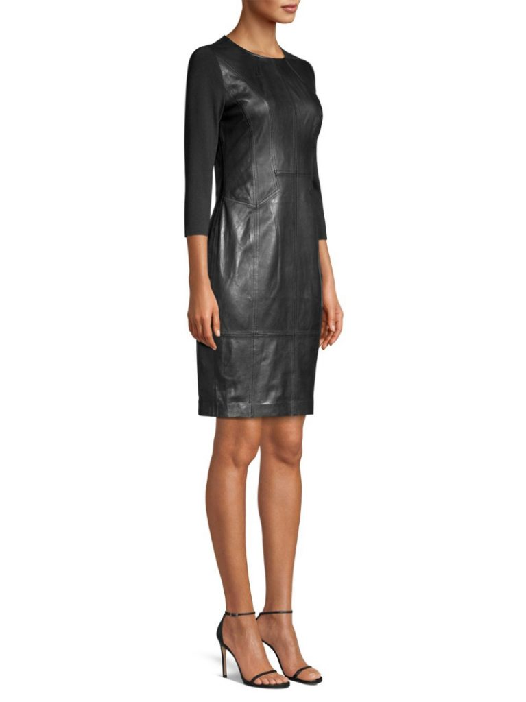 Tahari Leather Dress