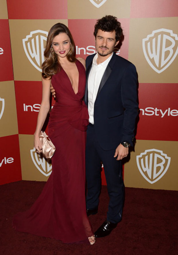 Miranda Kerr Celeb wearing Marsala - Panton color of the year