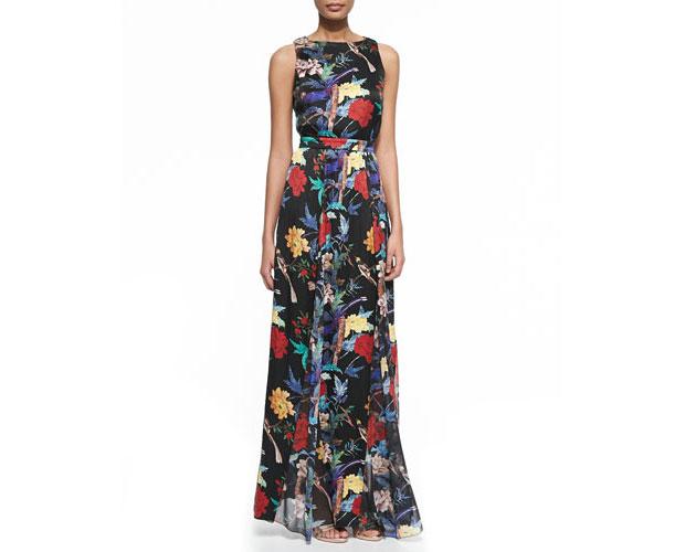 GET THE LOOK: Alice + Olivia, Elis Floral-Print Silk Maxi Dress, $598 >