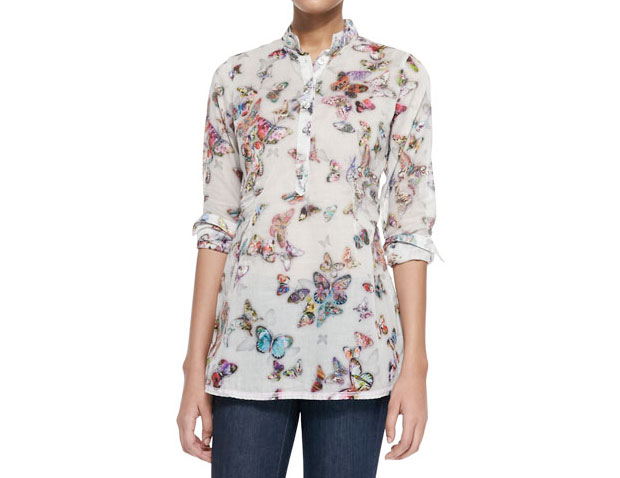GET THE LOOK: Georg Roth, BUTTERFLY PRINT BLOUSE, $238 >