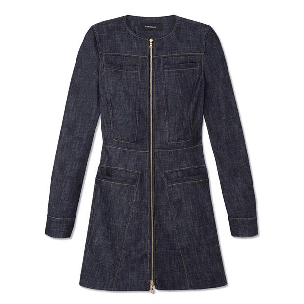 GET THE LOOK: Derek Lam, Long Sleeve Dress with Flare, $1,190 >