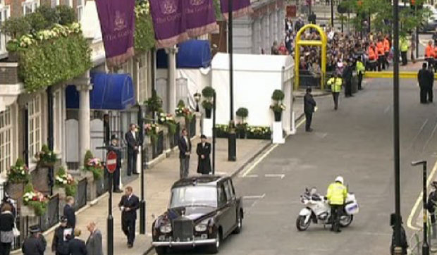 Outside The Goring before Kate married William