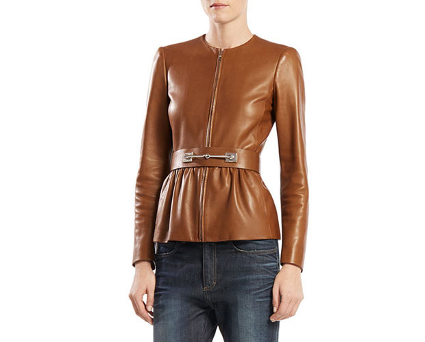 GET THE LOOK: Gucci, Belted Leather Jacket, $3,700 >