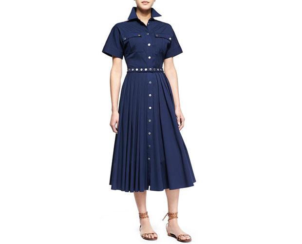 GET THE LOOK: Michael Kors, Utility Snap-Front Shirtdress, $1,595 >