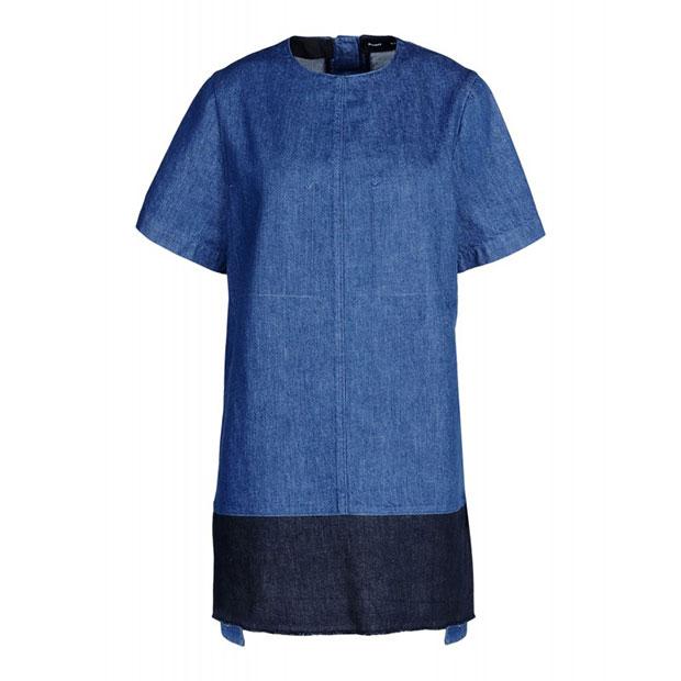 GET THE LOOK: Proenza Schouler, Denim T-shirt Shift Dress, $755 >