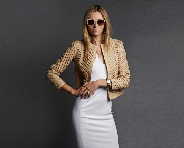 GET THE LOOK: Ralph Lauren, Black Label Chevron Zip Front Leather Jacket, $3,495 >