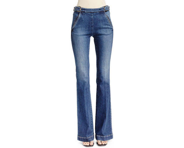 GET THE LOOK: Stella McCartney, Jeans with Side Buckles, $595 >