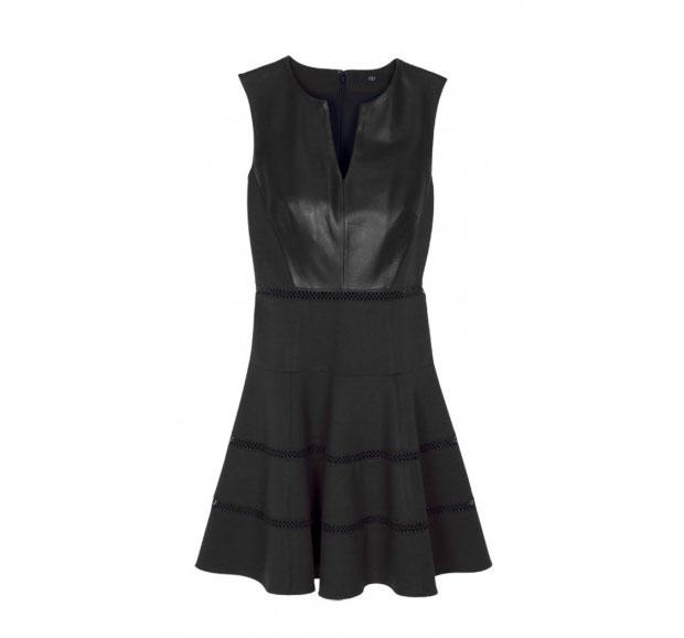 GET THE LOOK: Tibi, Leather Flirty Dress, SALE $390 >