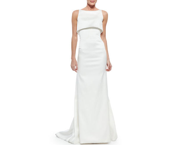 GET THE LOOK: Zac Posen, Sateen Double-Layer Gown Optic White, $4,990 >