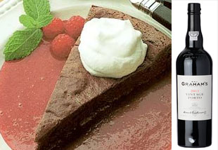 Chocolate-decadence-cake-and-Grahams-Vintage-Port Aphrodisiac Dessert