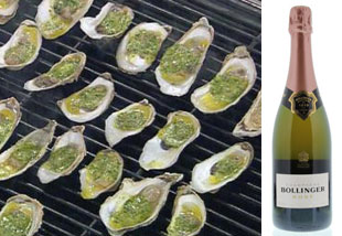 Emeril-Grilled-Oysters-and-Bollinger-Brut-Rose Aphrodisiac Starter