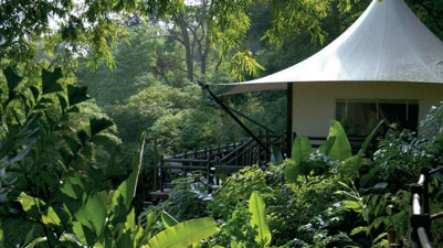 One of the Four Seasons Tented Camp Golden Triangle in Chiang Rai