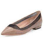 GET THE LOOK: Giorgio Armani, Mesh Point-toe Ballerina Flat, $303 >