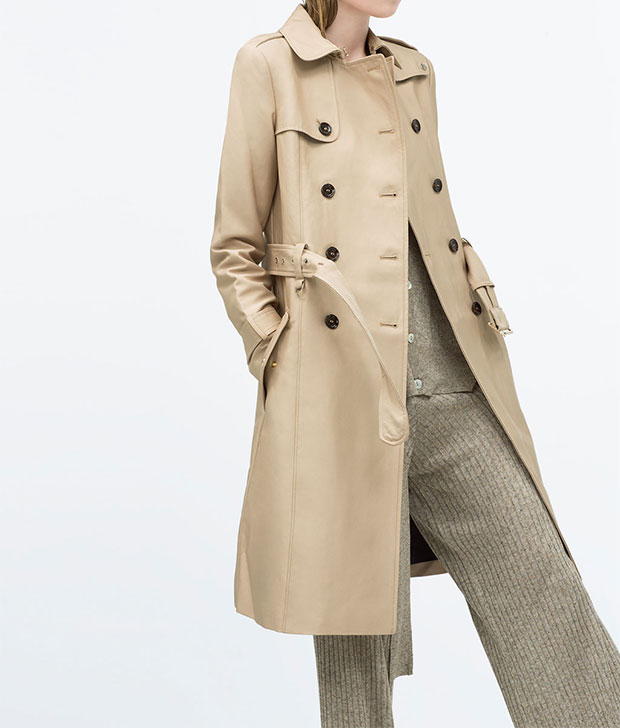 GET THE LOOK: Zara, Trenchcoat, $169 >