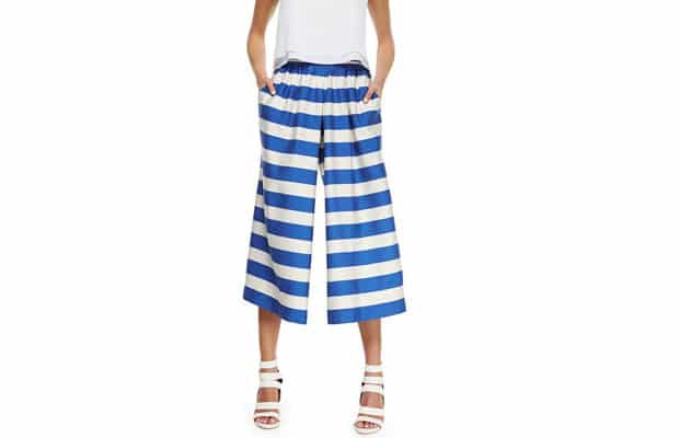 Striped-Pleated-Culottes