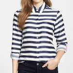 Foxcroft Horizontal Satin Stripe Shirt