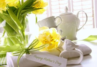 Gift Card for Mothes's day with flowers