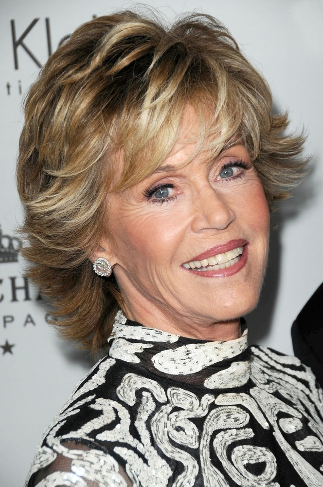 Transitioning Longer Shorter Hair Like Jane Fonda