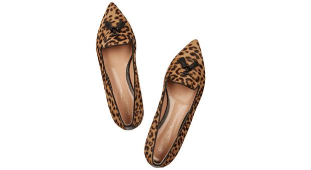 Leopard-print-calf-hair-point-toe-flats
