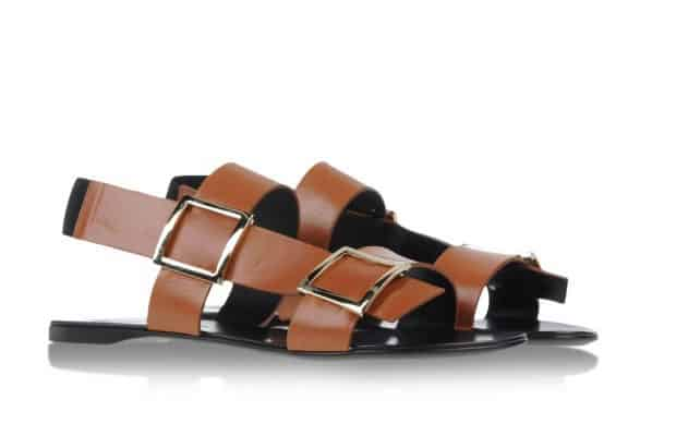 Flat-Buckled-Leather-Sandal