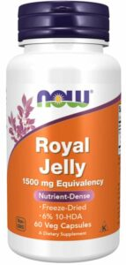 NOW Royal Jelly- oral supplements for skin