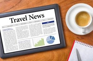 Tablet on a desk - Travel News