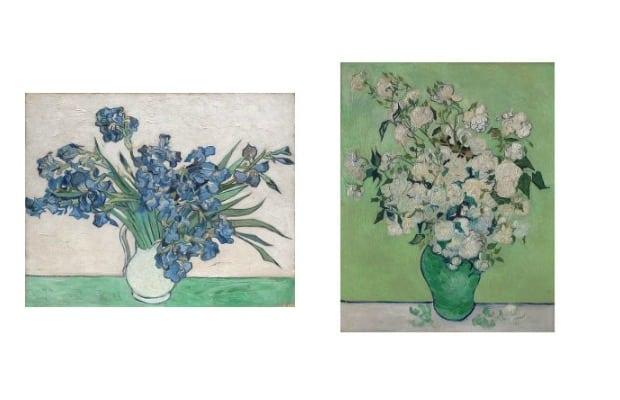 Van Gogh Irises and Roses