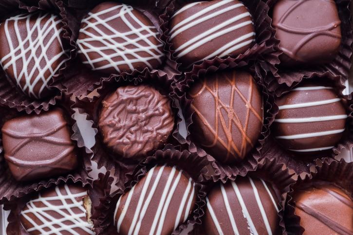white, dark, and milk chocolate.