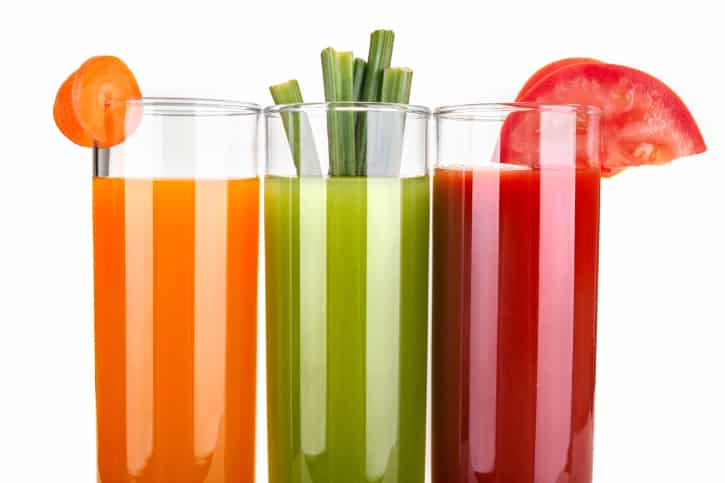 homemade vegetable juices