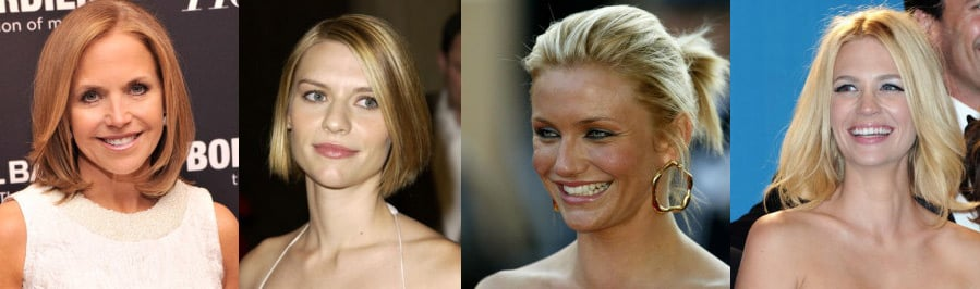 celebrity women and their hair styles