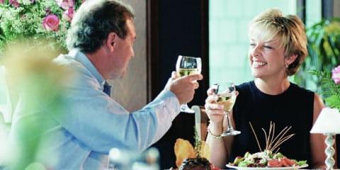 women-man-drinking