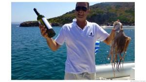 Milos captain and octopus