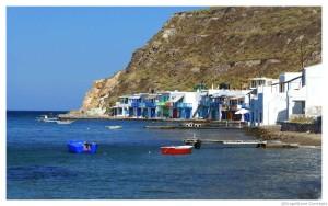 Milos quaint fishing village