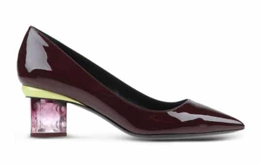 Carnaby Prism Leather Heel