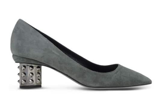 Suede Studded Heel