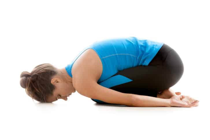 Yoga Girl Resting In Balasana
