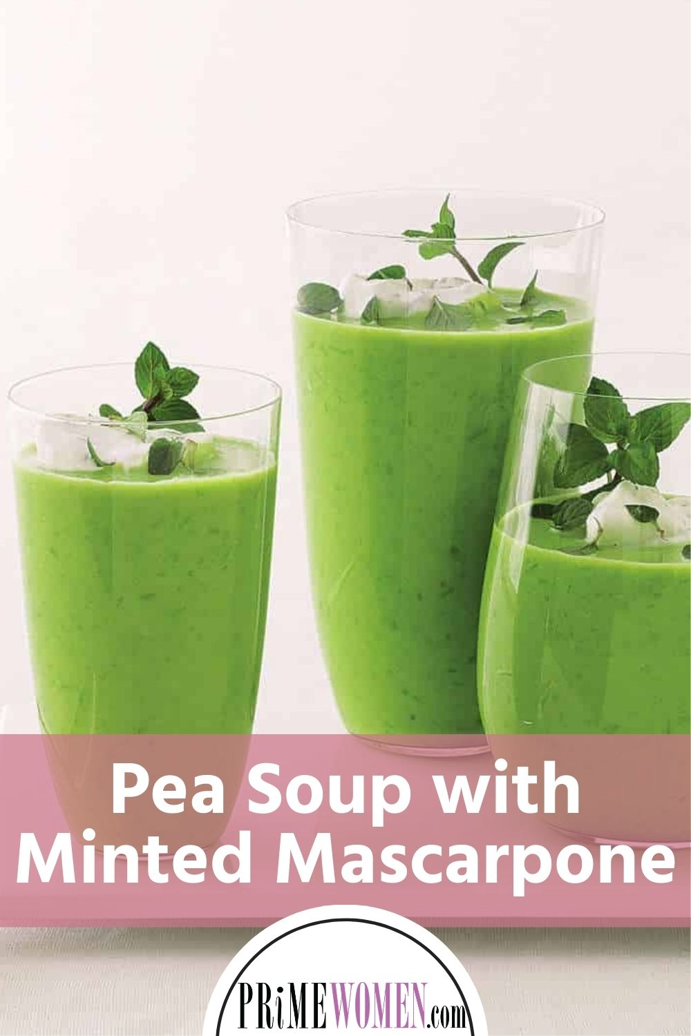 Pea Soup with Minted Mascarpone
