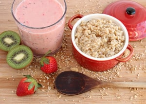 Oatmeal and Smoothie