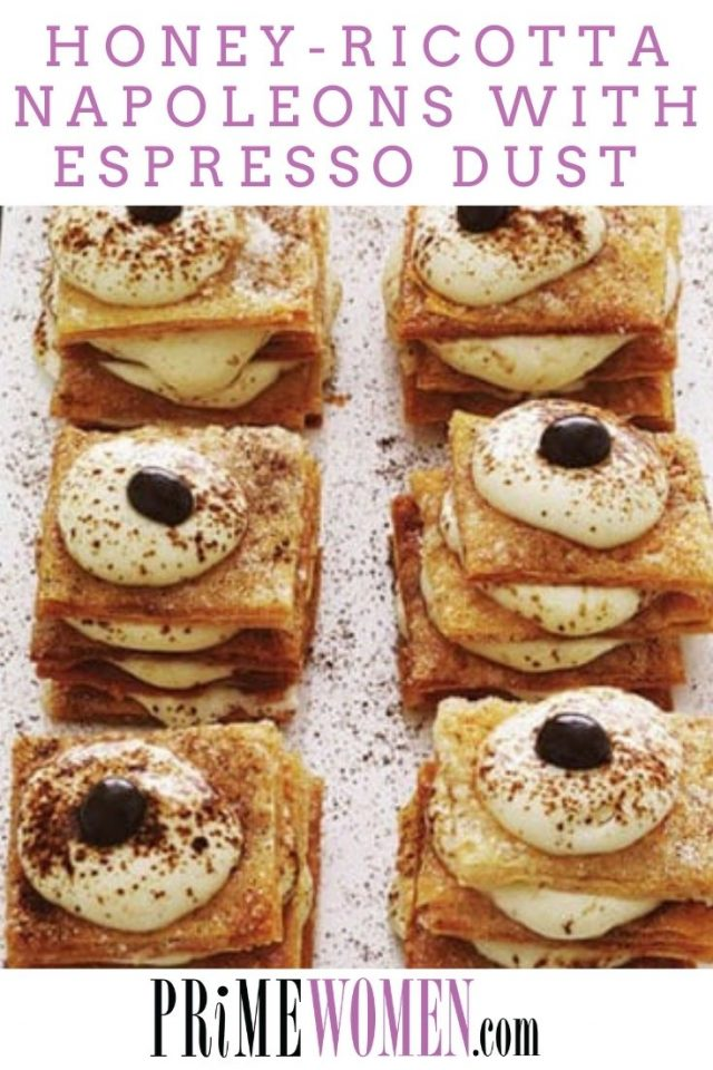 HONEY-RICOTTA NAPOLEONS WITH ESPRESSO DUST RECIPE