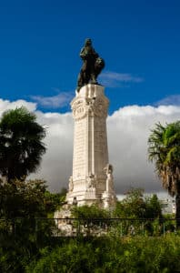 Marques do Pombal, view of the monument in Lisbon