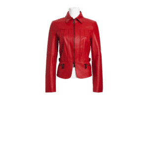 Biker Babe Red Jacket