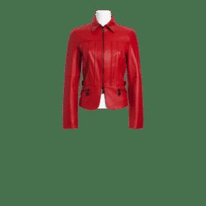 Biker Babe Red Jacket